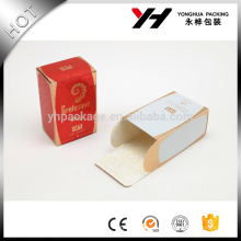 recycled materials laminated materials perfume paper box white